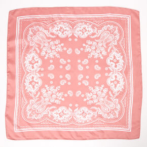 Paisley Silky Bandana Headwrap - Pink,