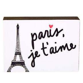 Paris, Je'Taime Word Block - White,