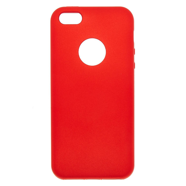 the best attitude 9a140 4a6fa Matte Red Logo Cut Out Phone Case - Fits iPhone 5/5S/SE