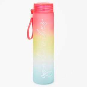 Good Vibes Rainbow Ombre Water Bottle,