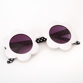 Claire's Club Daisy Sunglasses - White,