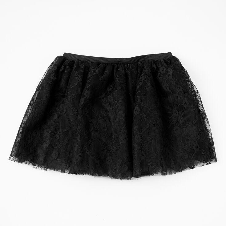 Floral Lace Tutu - Black,