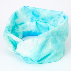 Tie Dye Twisted Headwrap - Mint,