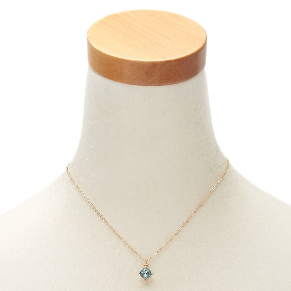 Claire's - march birthstone pendant necklace - 2
