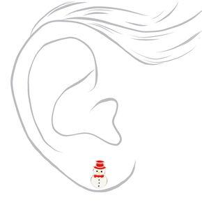Clous d'oreilles créatures de Noël couleur argentée - Lot de 3,