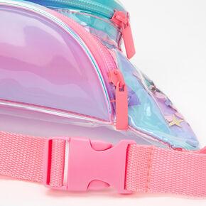 Pastel Ombre Shaker Glitter Transparent Fanny Pack,