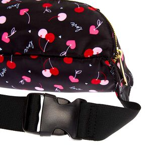 Nylon Cherry Love Bum Bag - Black,