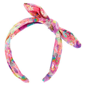 Cosmic Sweets Knotted Bow Headband,