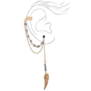 Bronze Wing Connector Earrings,