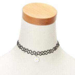 Daisy Tattoo Choker Necklace,