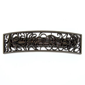 Hematite Filigree Arch Hair Barrette,