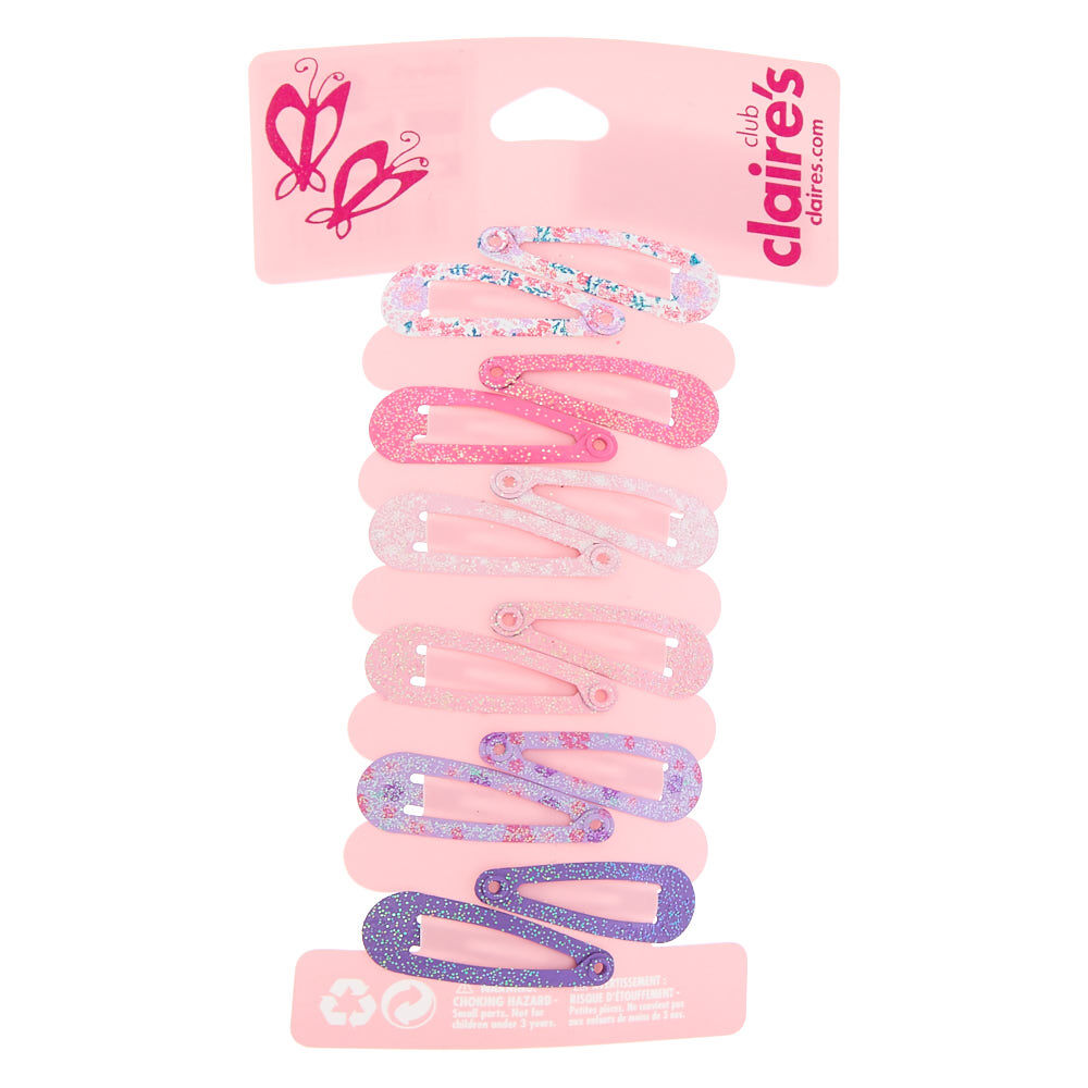 Girls Pastel glitter Ombre Sleepie snap Clips Grips Slides Hairclips Hair Access