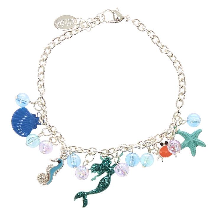 Bracelet à breloques «Under the Sea» couleur argentée - Bleu,