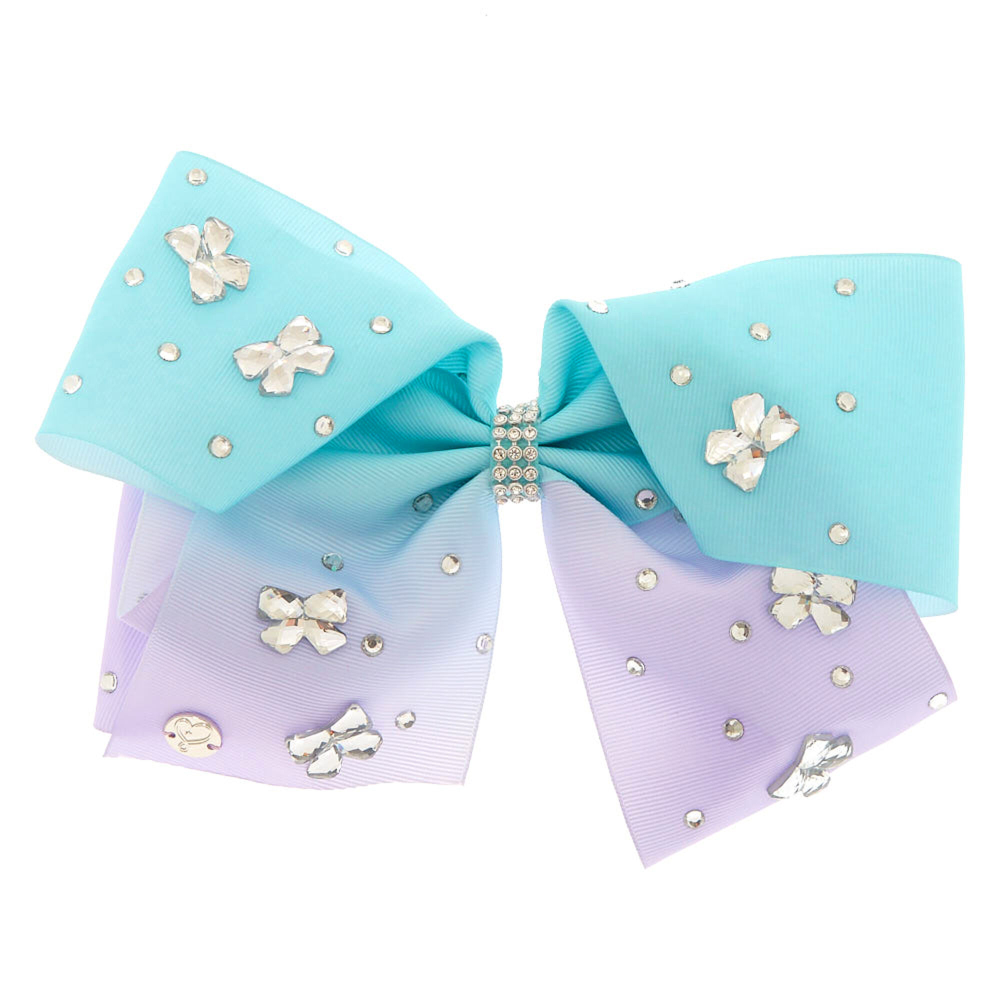 JoJo Siwa Bows 7 days Jojo Bow 8 cm with Unicorn and Rainbow pattern - Beautiful Hair Accessories - Best Xmas Present Stocking Filler for Girls.