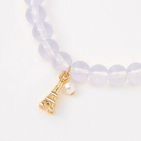 Paris Beaded Stretch Bracelet - Lavender,
