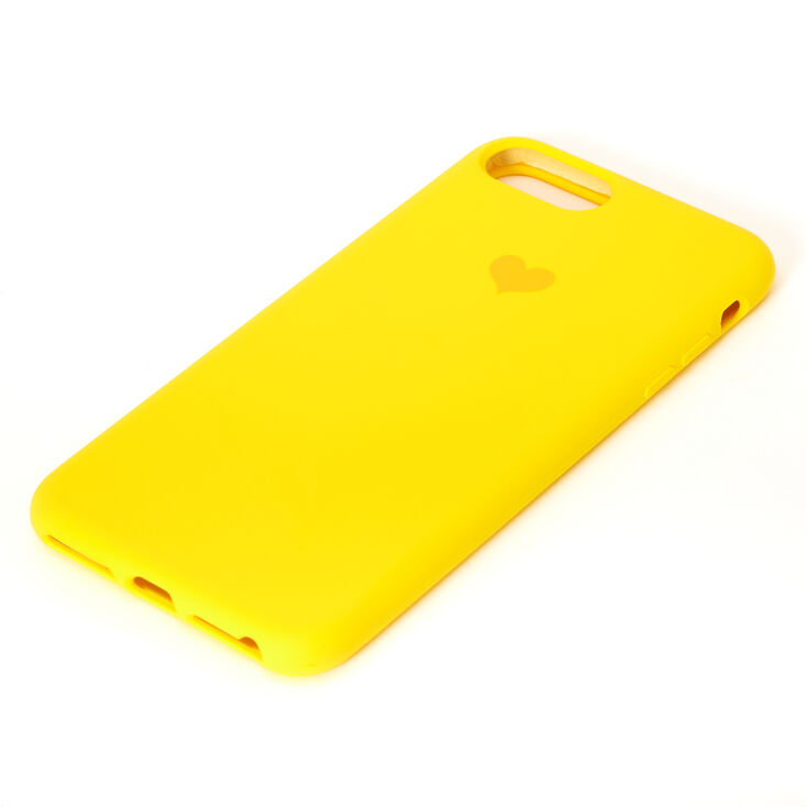 Yellow Heart Phone Case - Fits iPhone 6/7/8 Plus,