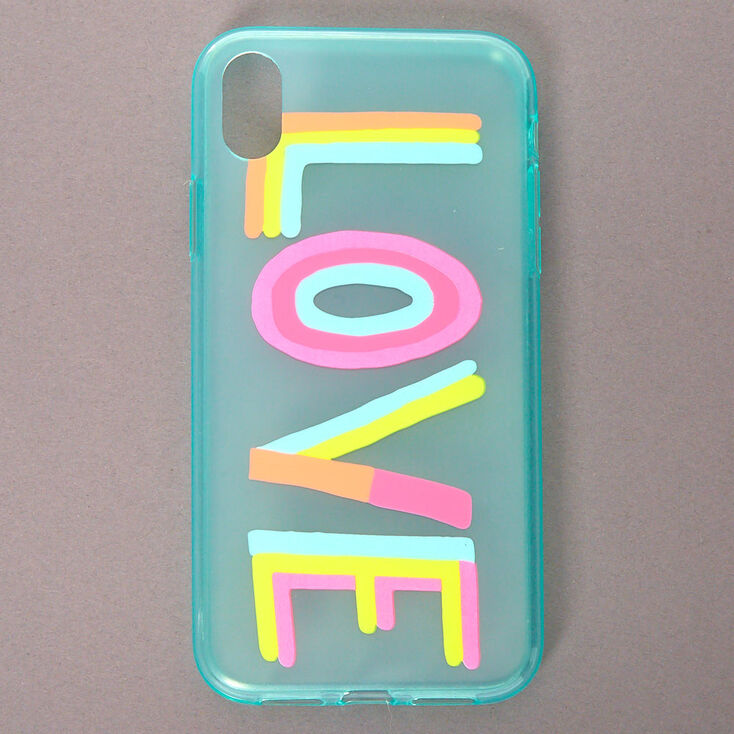 Rainbow Love Phone Case - Fits iPhone XR,
