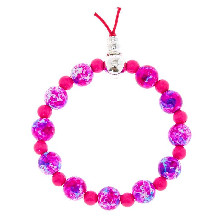 Pink Marble Bead Bracelet,