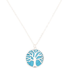 Tree of Life Pendant Necklace - Turquoise,
