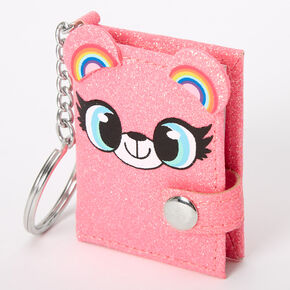 Izzy the Bear Mini Diary Keychain - Pink,