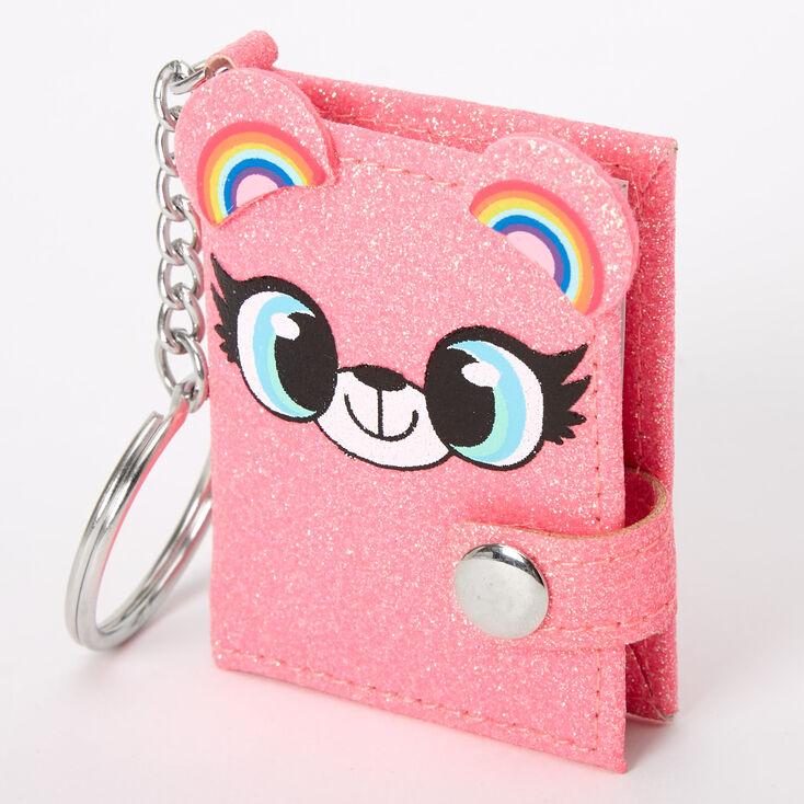Izzy the Bear Mini Diary Keychain - Pink,