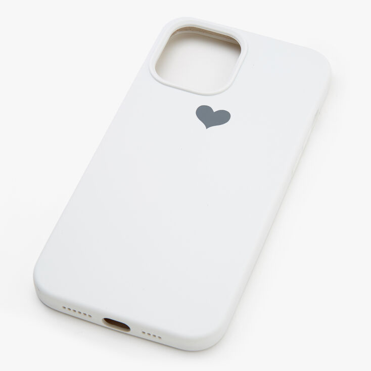 White Heart Protective Phone Case - Fits iPhone 12 Pro Max,