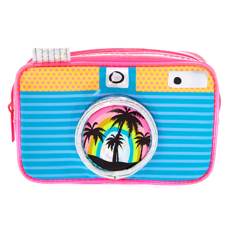 Tropical Camera Makeup Bag,