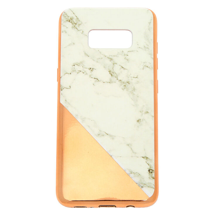 lowest price 0b115 bb23d Rose Gold Marble Phone Case - Fits Samsung Galaxy S8