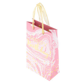 Small Speckled Marble Gift Bag - Pink,