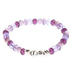 Wish Beaded Stretch Bracelet - Purple,