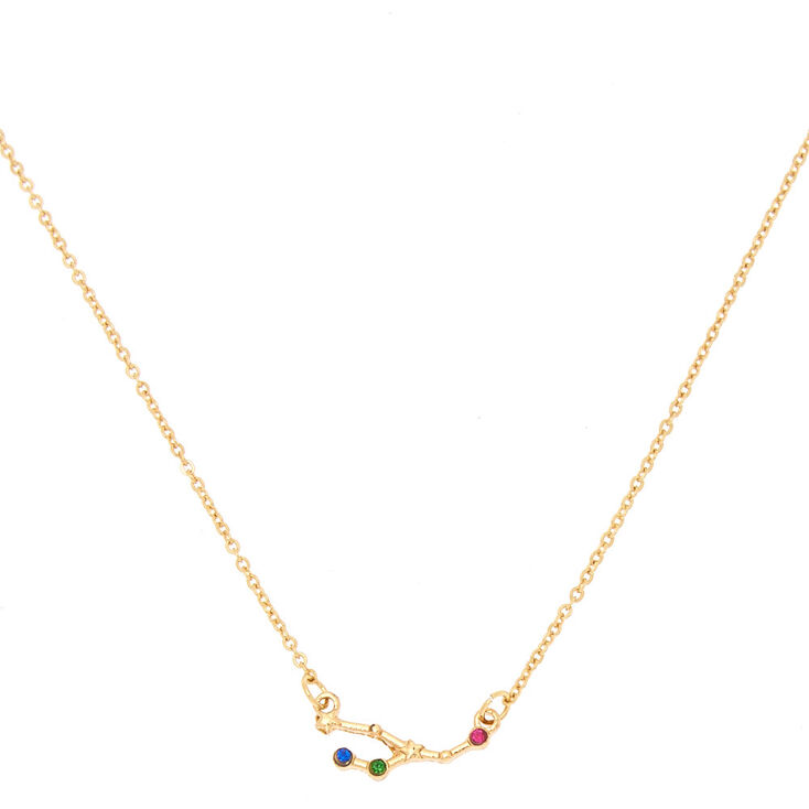 Taurus Constellation Necklace: Gold Zodiac Constellation Pendant Necklace