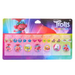 Trolls World Tour Stick-on-earrings & Rings - 7 Pack,