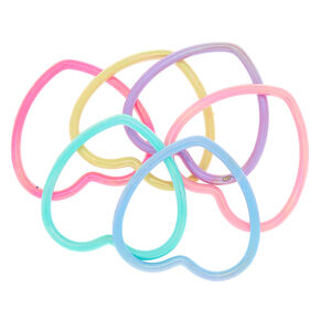 Claire's Club Heart Bangle Bracelets - 6 Pack,