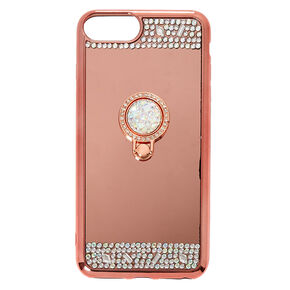 Rose Gold Mirrored Ring Stand Phone Case