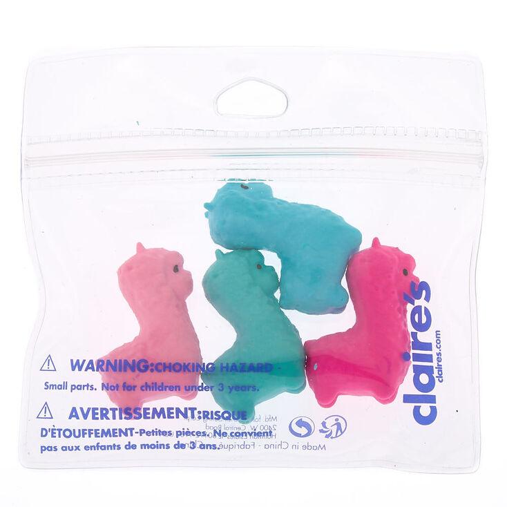 Mixed Llama Erasers - Pink, 4 Pack,