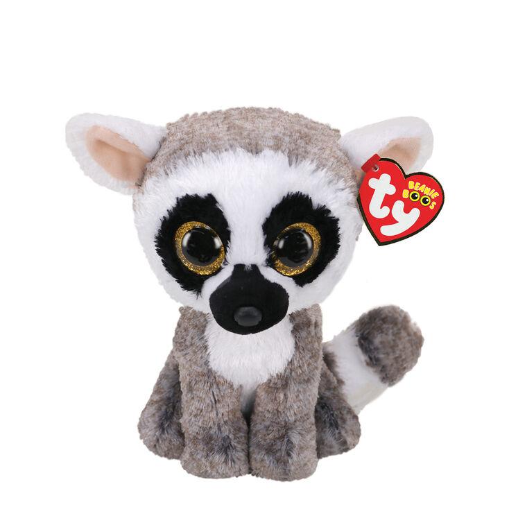 Petite peluche Linus le lémurien Ty Beanie Boo,