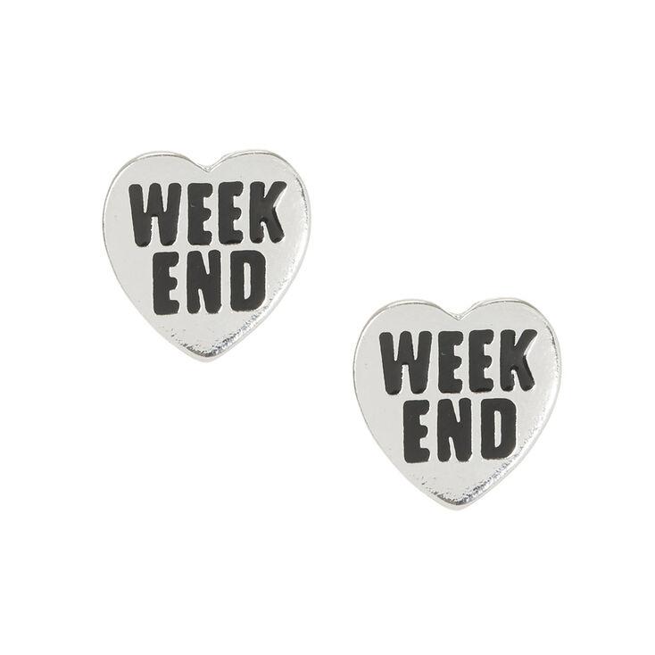 Weekend Heart Stud Earrings,