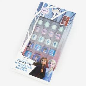 Faux ongles autocollants carrés La Reine des Neiges2 ©Disney - Lot de 18,