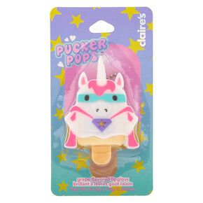 Pucker Pops Super Unicorn Lip Gloss - Grape,