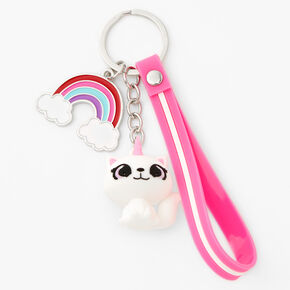 Silicone Caticorn Keychain - Pink,