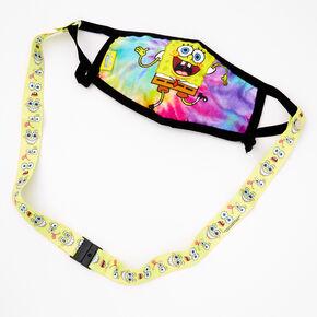 SpongeBob SquarePants Printed Cloth Face Mask Lanyard - Yellow,