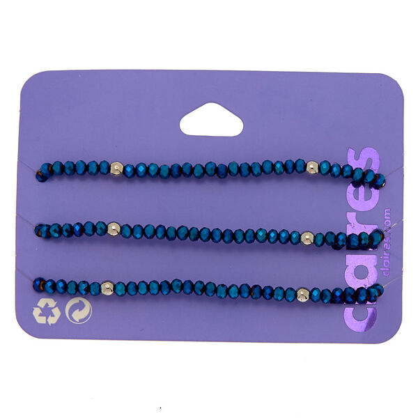 Claire's - beaded stretch bracelets - 1
