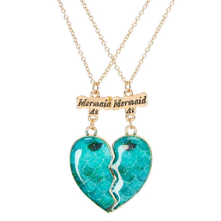 Best friends mermaid scales split heart pendant gold tone necklaces best friends mermaid scales split heart pendant gold tone necklaces aloadofball Gallery