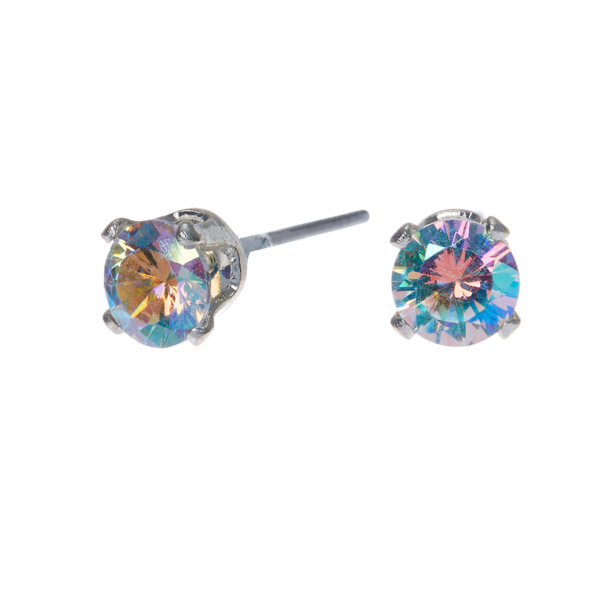 set gold round in earrings tcw at martini stud cubic zirconia