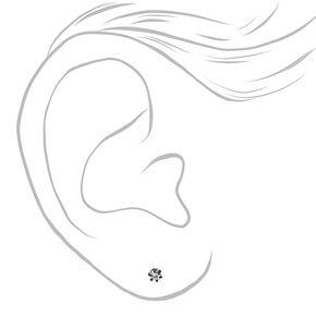 Mixed Metal 6MM Round Magnetic Stud Earrings - 9 Pack,