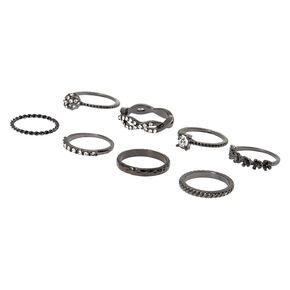 Hematite Forever Glam Rings - 8 Pack,