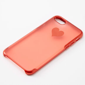 Red Frosted Heart Phone Case - Fits iPhone 6/7/8/SE,
