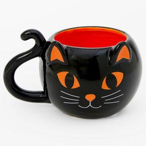 Halloween Black Cat Coffee Mug - Black,