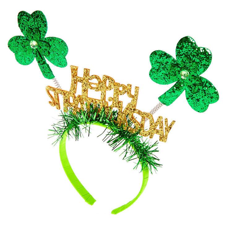 Serre-tête à antennes joyeuse fête de la Saint-Patrick - Vert,