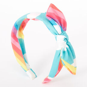 Rainbow Cloud Knotted Bow Headband,